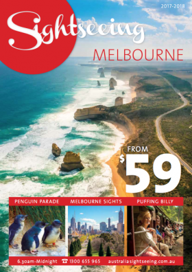 melbourne sightseeing brochure cover 1718
