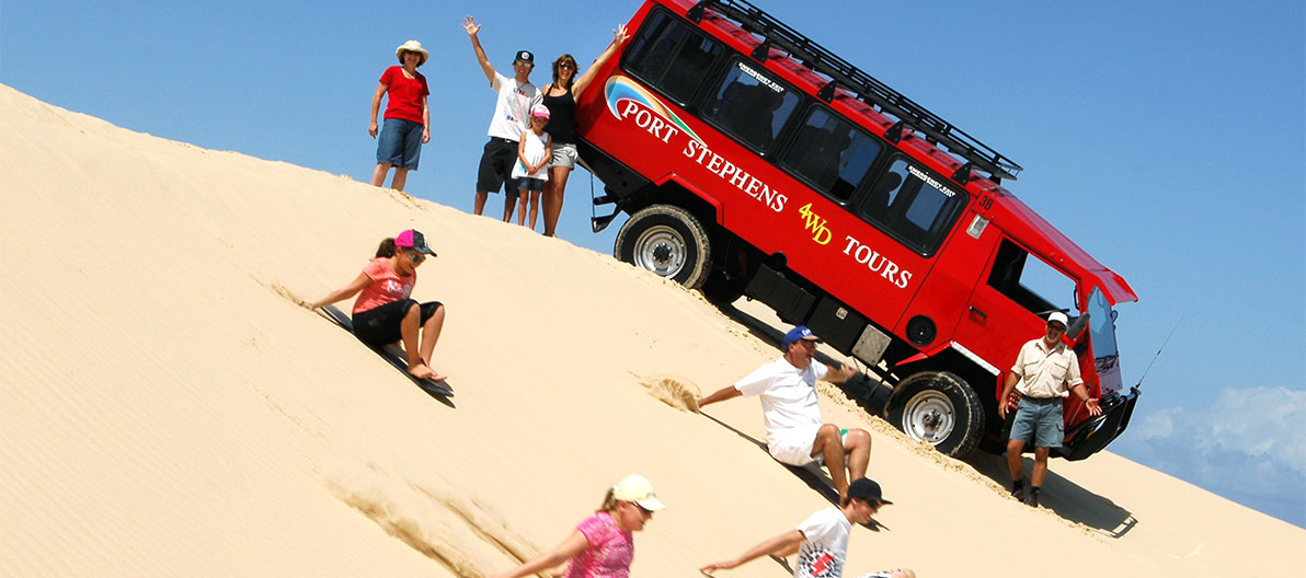 Try your hand at sandboarding