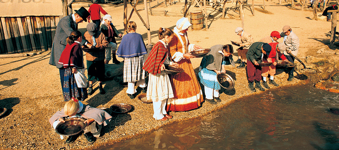 Gold Panning at Sovereign Hill