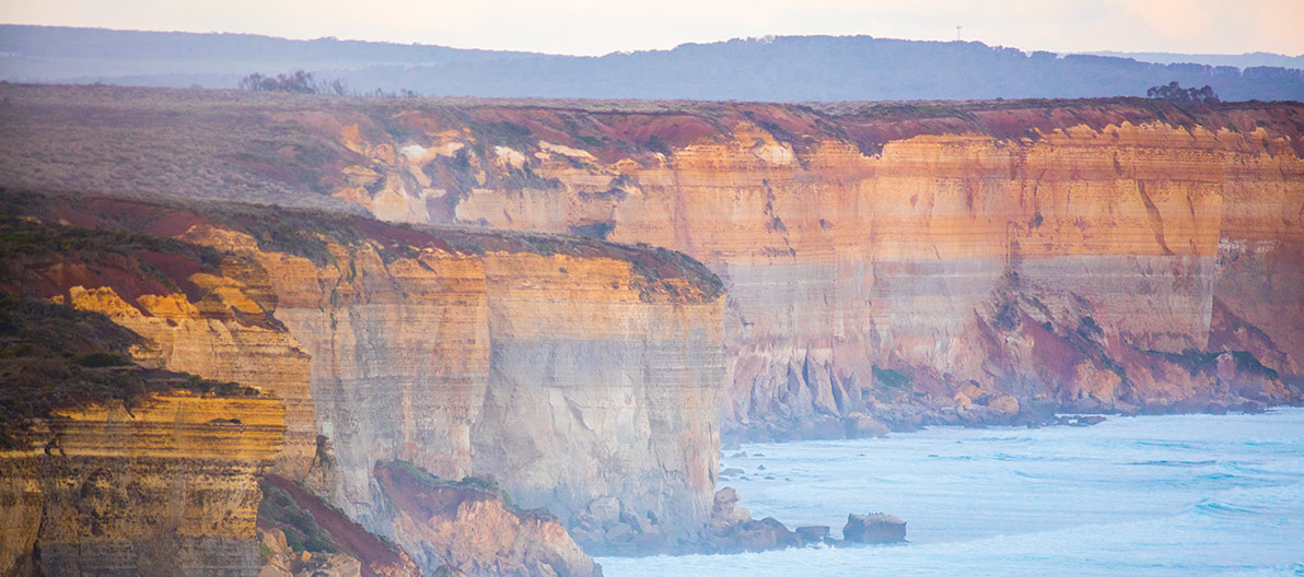 Limestone cliffs of the Great Ocean Rd
