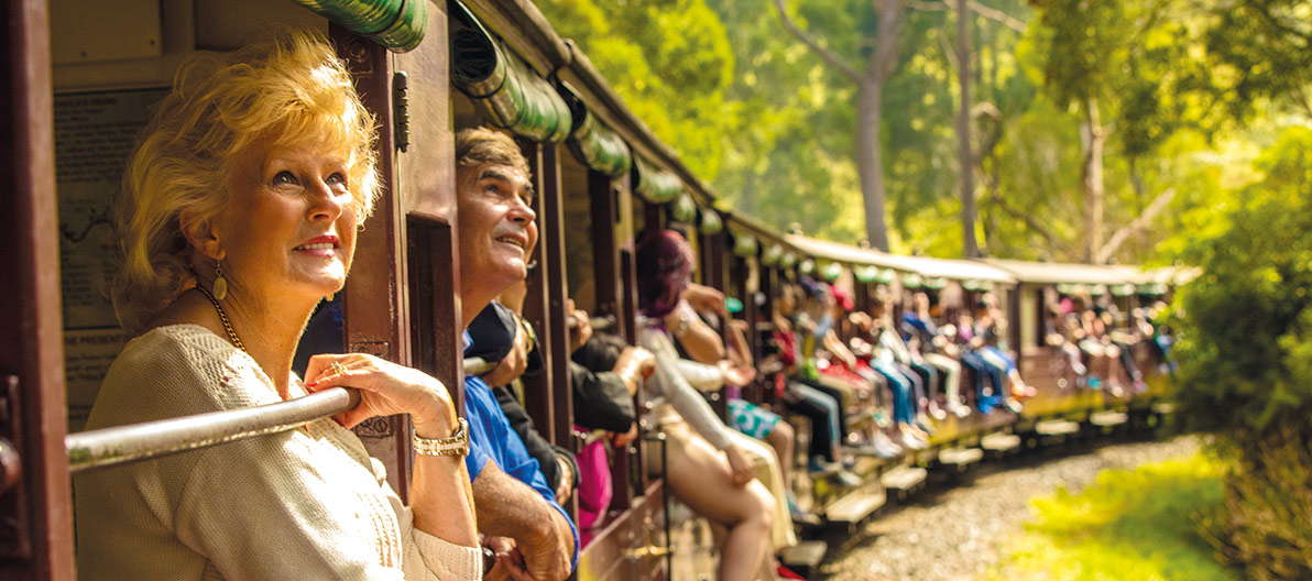 Puffing Billy Passengers